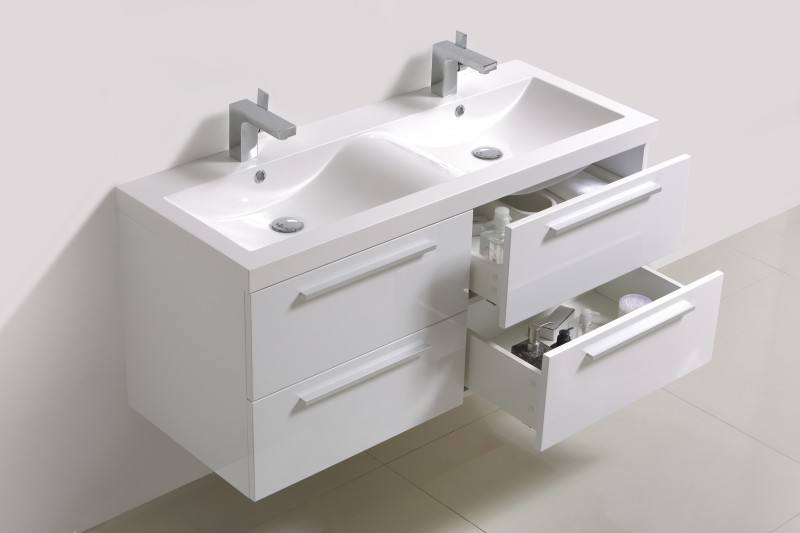Zestaw Mebli Do łazienki R1200 Białe Lustro I Szafka Boczna W Zestawie